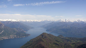 Bifurcation of Como lake Stock Photos