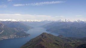 Bifurcation of Como lake Stock Photos