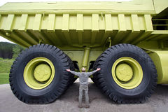 Big. One man and large truck Stock Photography