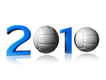 Big 2010 volleyball logo. It's a big 2010 volley logo on a white background vector illustration