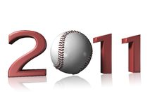 Big 2011 baseball logo. On a white background Stock Photos