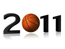 Big 2011 basketball logo. On a white background Royalty Free Stock Photos