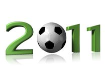 Big 2011 soccer logo. On a white background Royalty Free Stock Image
