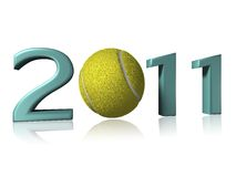 Big 2011 tennis logo. On a white background Royalty Free Stock Photos