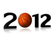Big 2012 basket design Stock Images