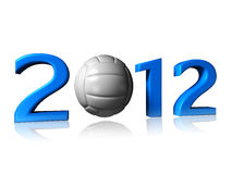 Big 2012 volleyball logo. It's a big 2012 volley logo on a white background Stock Photo