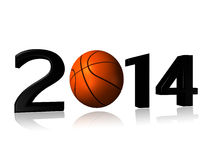 Big 2014 basket design. On a white background Royalty Free Stock Image
