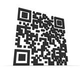 Big 3D QR-code. Render of a QR code (quick response) on a white background. Note: this qr-code is fake Stock Images