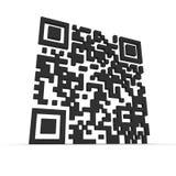 Big 3D QR-code Stock Images