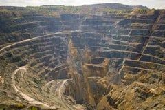 Opencast mining quarry. Timelapse Royalty Free Stock Image