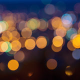 Big abstract circular city lights bokeh background, defocused Stock Images