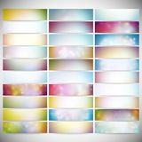 Big Abstract Colored Backgrounds Set. Modern Royalty Free Stock Photography