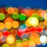Big abstract xmas circular lights bokeh background Royalty Free Stock Image