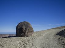 Big accretionary lava ball - Huevo del Teide Egg of Teide in d stock photos