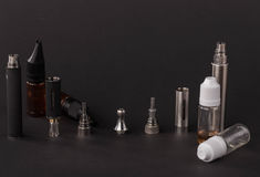 Big advanced electronic cigarette. Located on a black background royalty free stock photos