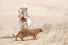 Big adventures in desert Stock Images