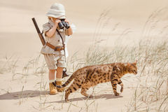 Big adventures in desert Royalty Free Stock Photography