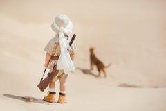 Big adventures in desert Stock Photo