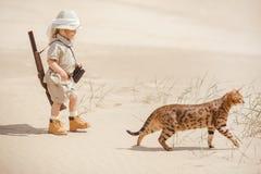 Big adventures in desert Stock Image