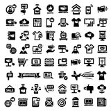 Big Advertising Icons Set Royalty Free Stock Images