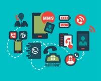 Colorfull  phone icons set Stock Image