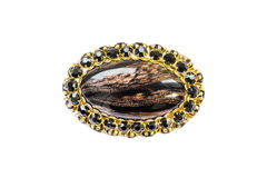 Agate brooch Royalty Free Stock Photography