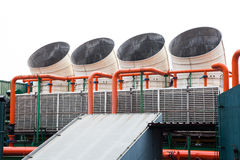 Big air conditioner. On roof of building Royalty Free Stock Images