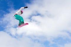 Big air girl Royalty Free Stock Photo