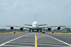 Big airliner Stock Photography