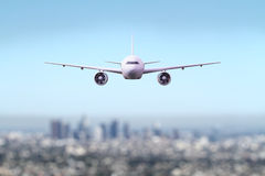 Big airliner flying Royalty Free Stock Image