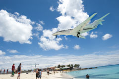 Big Airplane Beach Royalty Free Stock Image