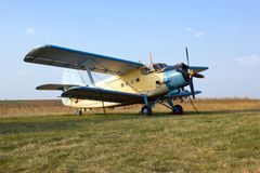 Big airplane (biplane) Royalty Free Stock Photos
