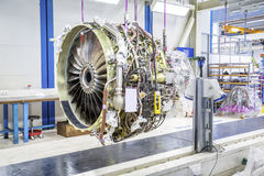 Big airplane engine during maintenance Royalty Free Stock Image