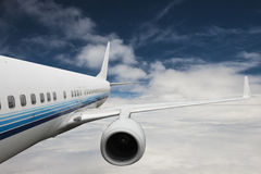 Big airplane in the sky. Chose-up Big airplane in the sky Stock Photography