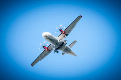 Big airplane in the sky - Passenger Airliner Royalty Free Stock Photo