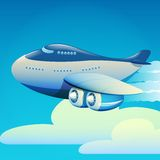 Big airplane Stock Image
