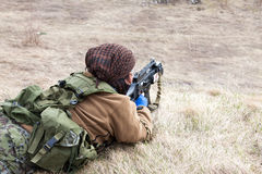 BIG AIRSOFT GAME Royalty Free Stock Photos