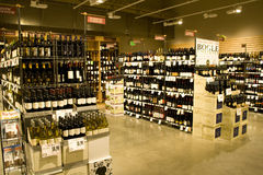 Alcohol store Royalty Free Stock Photography