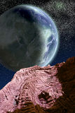 Big Allien Planet Royalty Free Stock Images