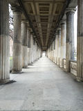 Big alligned pillars royalty free stock images