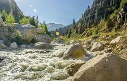 Big Almaty gorge. Stock Photo