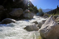 Big Almaty gorge. Royalty Free Stock Photos