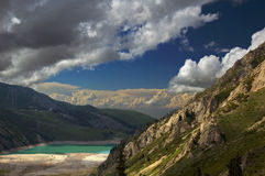 Big Almaty Lake. View to the Lake in the mountains Stock Image