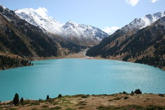 Big Almaty lake in Kazakhstan Royalty Free Stock Images