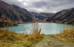 Big Almaty Lake. Located at an altitude of 2500 meters Stock Photo
