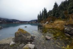 Big Almaty Lake. Located at an altitude of 2500 meters Royalty Free Stock Photo