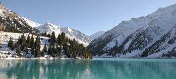 Big Almaty Lake scenics Royalty Free Stock Photo