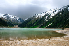 Big Almaty Lake ,Tien Shan Mountains in Almaty Stock Images