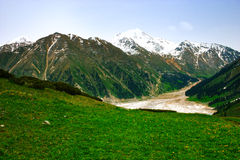 Big Almaty Lake, Tien Shan Mountains in Almaty Royalty Free Stock Photography
