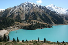 Free Big Almaty Lake With Mountains Stock Image - 15442861